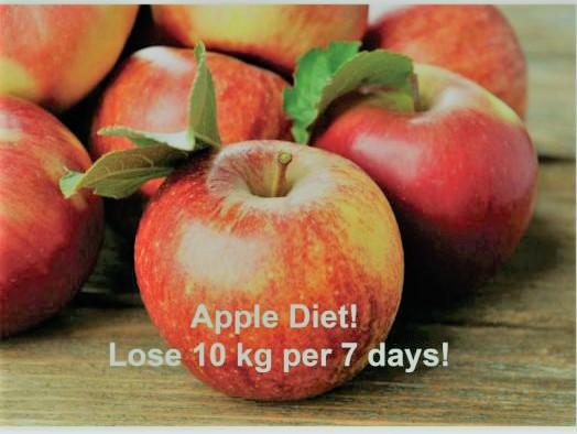 Dieta jabłkowa na schudnięcie 10kg w przeciągu 7 dni.